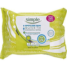 Spotless Skin Quick Fix Cleansing Wipes by Simple