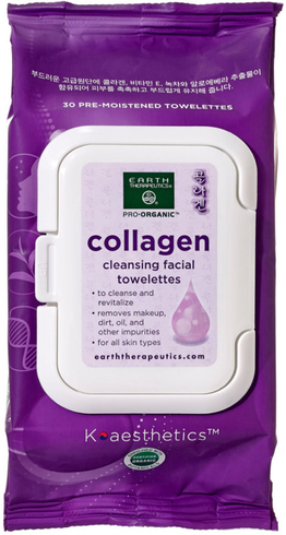 Makeup Remover Wipes Collagen by earth therapeutics