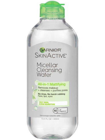 SkinActive Micellar Cleansing Water All-in-1 Mattifying by garnier #2