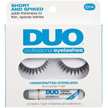 Professional Eyelashes Short And Spiked D14 by Duo