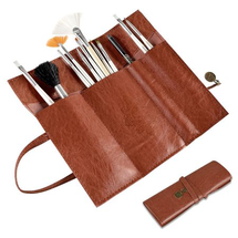Up Leather Beauty Makeup Cosmetic Pencil Case Bag by Zodaca