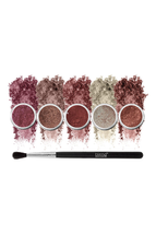 Natural World Of Matte Brown Eyeshadow 6-Piece Set by Blend Mineral Cosmetics