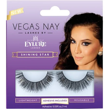 Party Perfect False Lashes Midnight Black Adhesive Included by eylure