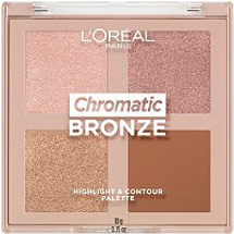 Chromatic Bronze Highlight And Contour Palette by L'Oreal