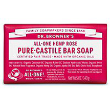 Rose Pure-Castile Bar Soap by dr bronners