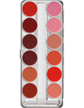 Lip Rouge Palette 12 Colors - Classic 2 by kryolan