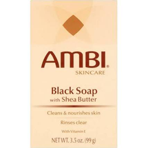 Skincare Black Soap With Shea Butter by ambi
