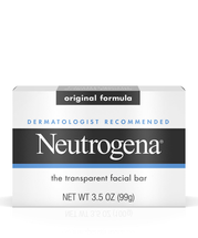 Dermatologist-Recommended Original Face Soap Bar with Glycerin by Neutrogena