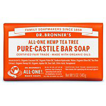 Tea Tree Pure-Castile Bar Soap by dr bronners