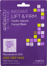 Instant Lift & Firm Hydro Serum Facial Mask by andalou naturals