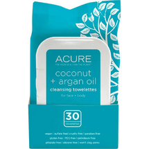 Towelettes Cleansing Coconut + Argan Oil by acure organics