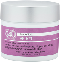 Be Well CBD Hydrating Facial Mousse Mask by Naturally G4U