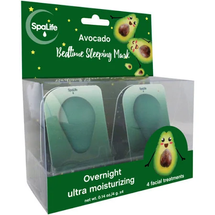 Avocado Bedtime Sleeping Mask - 4 Pack by my spa life