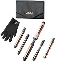 Le Cinq Curling Wand Set In Blush by lange