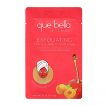 Cherry & Apricot Exfoliating Facial Scrub by que bella