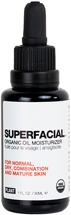 SUPERFACIAL Organic Oil Moisturizer for Normal, Combination and Mature Skin by Plant Apothecary