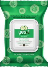 Cucumbers Hypoallergenic Facial Wipes by yes to