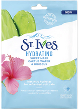 Hydrating Cactus Water & Hibiscus Sheet Mask by st ives
