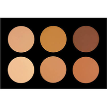 6 Color Pressed Powder Foundation Palette by Crown Brush