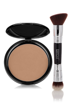 Foundation Mineral Pressed Powder & Brush by Blend Mineral Cosmetics