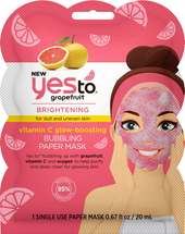 Grapefruit Bubbling Paper Mask by yes to