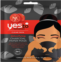 Tomatoes Detoxifying Charcoal Paper Mask by yes to