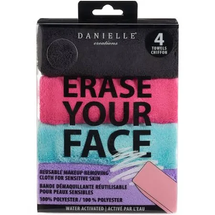 Erase Your Face 4-Pack Reusable Makeup Removing Cloth for Sensitive Skin by danielle