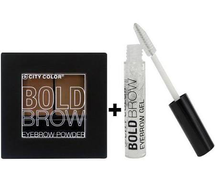 Bold Brow Eyebrow Powder Kit And Clear Eyebrow Gel Set by city color