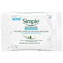 Water Boost Micellar Make Up Remover Eye Pads by Simple