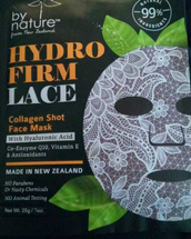 Hydro Firm Lace Collagen Shot Face Mask by By Nature From New Zealand