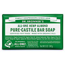 Almond Pure-Castile Bar Soap by dr bronners