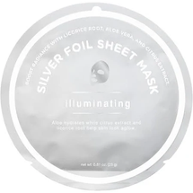 Illuminating Silver Foil Sheet Mask by my spa life