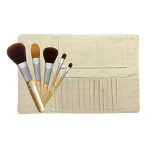 Makeup Brush Kit Roll Up Bag And Brushes by real purity