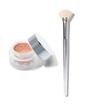 Beaming Light Duo Amped Loose Highlighter & Brush Set by Jaclyn Cosmetics