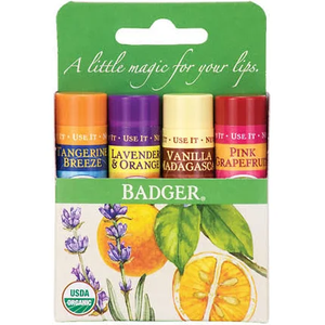 Classic Lip Balm 4-Pack - Green Box by badger