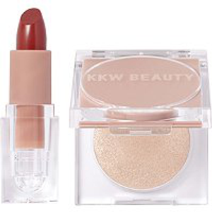 Holiday 2019 Creme Lipstick Highlighter Duo by KKW Beauty