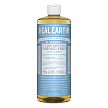 Pure-Castile Liquid Soap Baby Unscented by dr bronners