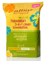 Hawaiian 3-In-1 Clean Towelettes by alba