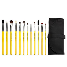Studio Eyes 12.pc Brush Set with Roll-up Pouch by bdellium tools