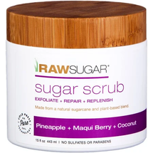 Pineapple, Maqui Berry and Coconut Body Scrubs by raw sugar