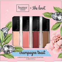 The Knot Champagne Toast 4-Piece Plush Rush Lip Gloss Collection by butter