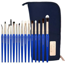 Golden Triangle Eyes Complete 15pc. Brush Set with Pouch by bdellium tools