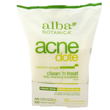 AcneDote Clean 'N Treat Cleansing Towelettes by alba