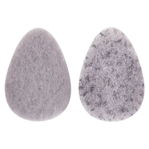 Charcoal Infused Facial Sponge by the bathery
