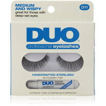 Professional Eyelashes Medium And Wispy D11 by Duo