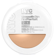 Smooth Skin 2 In 1 Compact Foundation & Concealer by NYC
