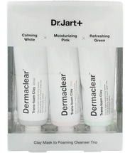 Clay Face Mask To Foaming Cleanser Trio by Dr Jart+