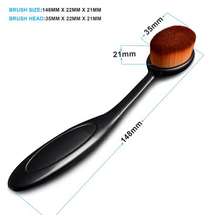 Head Oval Cream Puff Cosmetic Toothbrush Shaped Powder by Zodaca