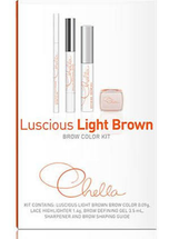 Luscious Light Brown Eyebrow Color Kit by Chella