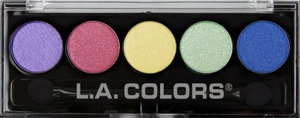 5 Color Metallic Eyeshadow Palette by L.A. Colors